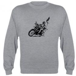 Реглан (свитшот) Байкер на мотоцикле - FatLine