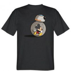 Мужская футболка BB-8 and Mickey Mouse