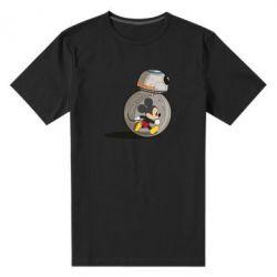 Мужская стрейчевая футболка BB-8 and Mickey Mouse