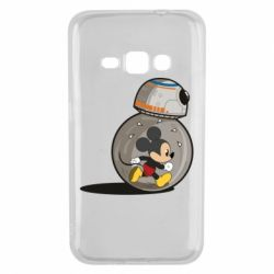 Чехол для Samsung J1 2016 BB-8 and Mickey Mouse