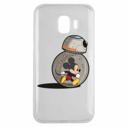 Чехол для Samsung J2 2018 BB-8 and Mickey Mouse