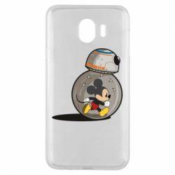 Чехол для Samsung J4 BB-8 and Mickey Mouse