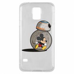 Чехол для Samsung S5 BB-8 and Mickey Mouse