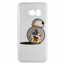 Чохол для Samsung S6 EDGE BB-8 and Mickey Mouse