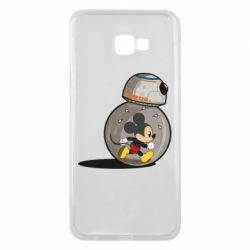 Чехол для Samsung J4 Plus 2018 BB-8 and Mickey Mouse