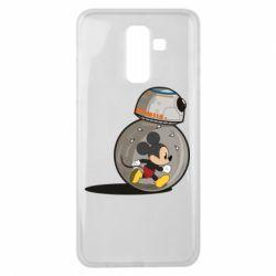 Чехол для Samsung J8 2018 BB-8 and Mickey Mouse