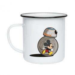 Кружка емальована BB-8 and Mickey Mouse