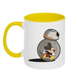 Кружка двоколірна 320ml BB-8 and Mickey Mouse