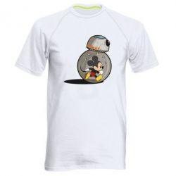 Мужская спортивная футболка BB-8 and Mickey Mouse