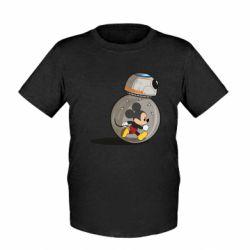 Детская футболка BB-8 and Mickey Mouse