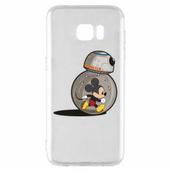 Чехол для Samsung S7 EDGE BB-8 and Mickey Mouse