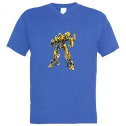 Мужская футболка  с V-образным вырезом Bbumblebee - FatLine