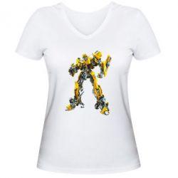 Женская футболка с V-образным вырезом Bbumblebee - FatLine