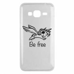 Чохол для Samsung J3 2016 Be free unicorn