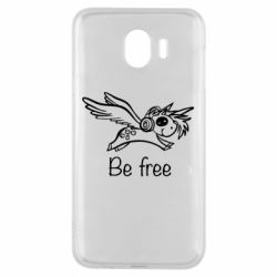 Чехол для Samsung J4 Be free unicorn