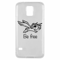 Чехол для Samsung S5 Be free unicorn