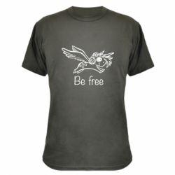 Камуфляжна футболка Be free unicorn