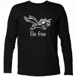 Футболка з довгим рукавом Be free unicorn