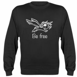 Реглан (свитшот) Be free unicorn