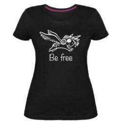 Жіноча стрейчева футболка Be free unicorn