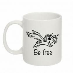 Кружка 320ml Be free unicorn