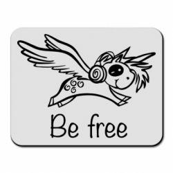 Килимок для миші Be free unicorn