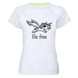 Жіноча спортивна футболка Be free unicorn