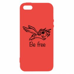 Чехол для iPhone5/5S/SE Be free unicorn