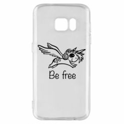 Чехол для Samsung S7 Be free unicorn