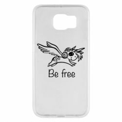 Чехол для Samsung S6 Be free unicorn