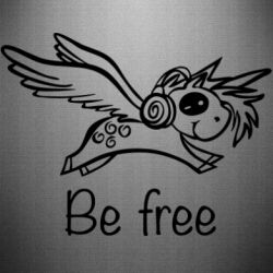 Наклейка Be free unicorn