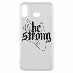 Чехол для Samsung A6s Be strong lettering