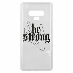 Чехол для Samsung Note 9 Be strong lettering