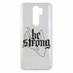 Чехол для Xiaomi Redmi Note 8 Pro Be strong lettering