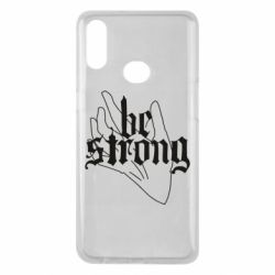 Чехол для Samsung A10s Be strong lettering