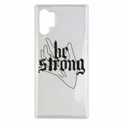 Чехол для Samsung Note 10 Plus Be strong lettering