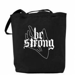 Сумка Be strong lettering
