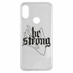 Чехол для Xiaomi Redmi Note 7 Be strong lettering
