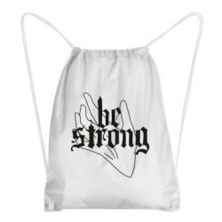 Рюкзак-мешок Be strong lettering