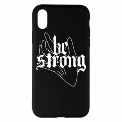 Чехол для iPhone X/Xs Be strong lettering