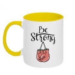 Кружка двухцветная Be strong