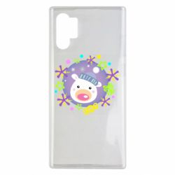 Чехол для Samsung Note 10 Plus Bear and decorations