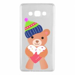 Чехол для Samsung A7 2015 Bear and gingerbread