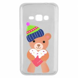 Чехол для Samsung J1 2016 Bear and gingerbread