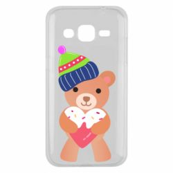 Чехол для Samsung J2 2015 Bear and gingerbread
