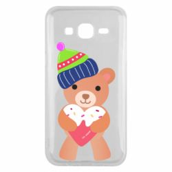 Чехол для Samsung J5 2015 Bear and gingerbread