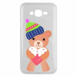 Чехол для Samsung J7 2015 Bear and gingerbread