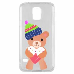 Чехол для Samsung S5 Bear and gingerbread