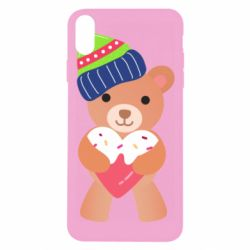Чехол для iPhone Xs Max Bear and gingerbread