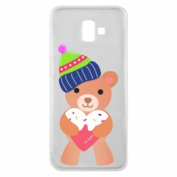 Чехол для Samsung J6 Plus 2018 Bear and gingerbread